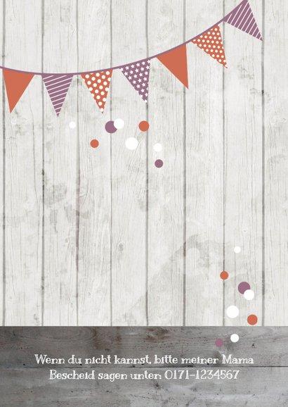 Einladung zum Kindergeburtstag Dusky Pink & Orange 2