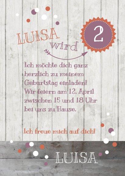 Einladung zum Kindergeburtstag Dusky Pink & Orange 3