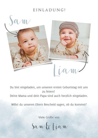 Einladung zum Kindergeburtstag für Zwillinge 3