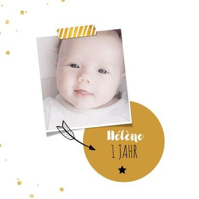 Einladung zum Kindergeburtstag Goldschatz mit Foto 2