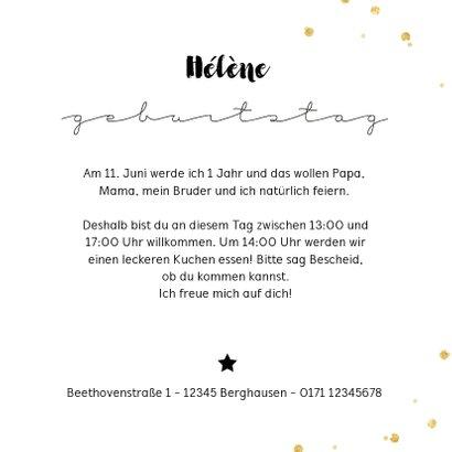 Einladung zum Kindergeburtstag Goldschatz mit Foto 3