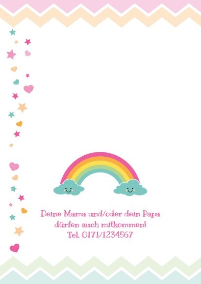 Einladung zum Kindergeburtstag Happy Clouds 2