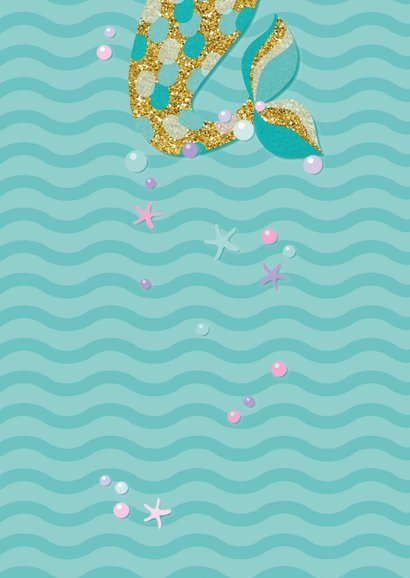 Einladung zum Kindergeburtstag Meerjungfrau 2