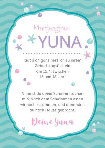 Einladung zum Kindergeburtstag Meerjungfrau 3