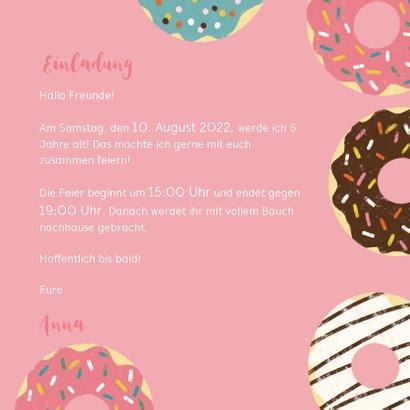 Einladung zum Kindergeburtstag mit Foto und Donuts 3