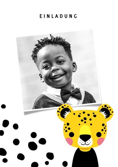 Einladung zum Kindergeburtstag mit Foto und Leopard 2