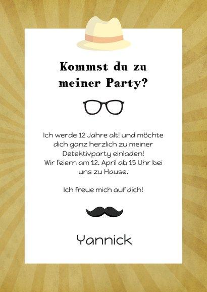 Einladung zum Kindergeburtstag Moustache beige 3