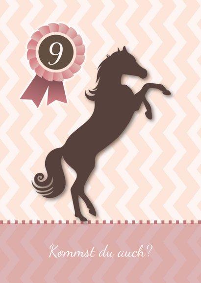 Einladung zum Kindergeburtstag Pferdeparty 2