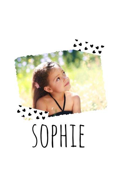 Einladung zum Kindergeburtstag Schwarzweiß mit Foto 2