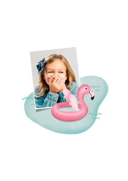 Einladung zum Kindergeburtstag Schwimmen Flamingo 2