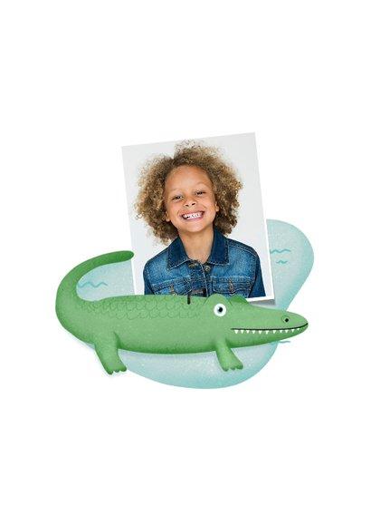 Einladung zum Kindergeburtstag Schwimmen Krokodil 2