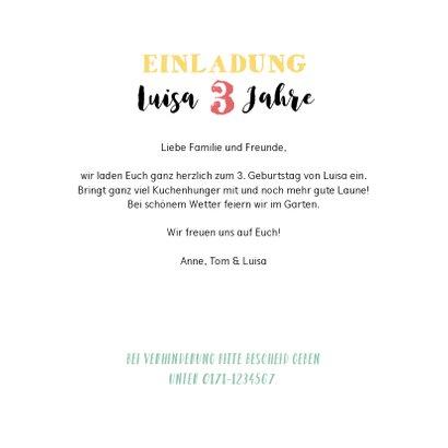 Einladung zum Kindergeburtstag Steckbrief Mädchen 3