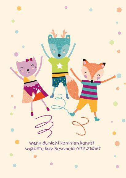 Einladung zum Kindergeburtstag Trampolin 2
