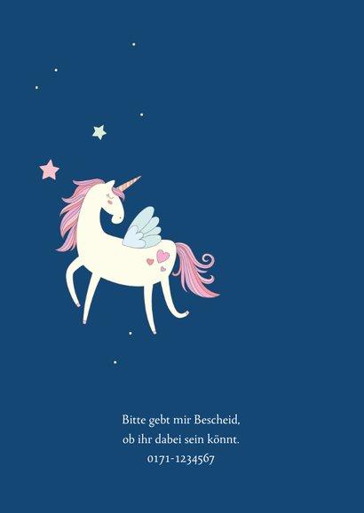 Einladung zum Kindergeburtstag Unicorns forever 2