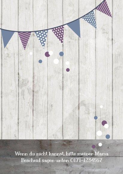 Einladung zum Kindergeburtstag Violet & Blue 2