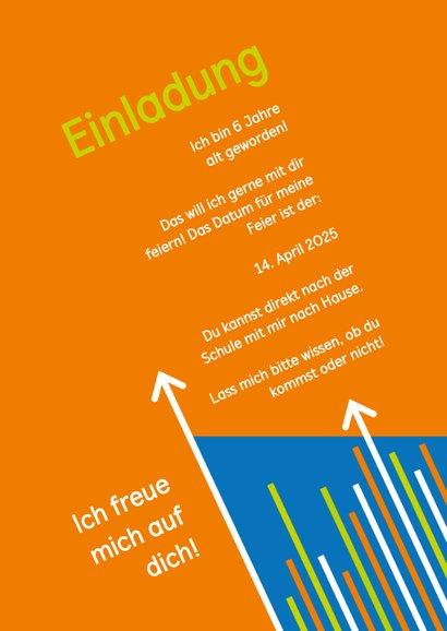 Einladung zum Klettern blau-orange mit Fotos 3