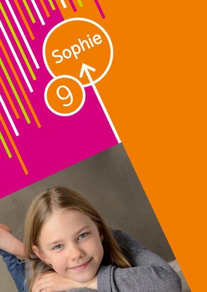 Einladung zum Klettern pink-orange mit Fotos 2
