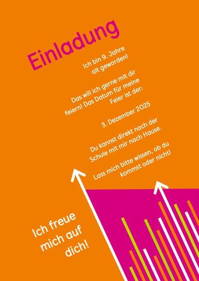 Einladung zum Klettern pink-orange mit Fotos 3