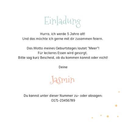 Einladung zum Meerjungfrauen Geburtstag Wasserfarbe mit Foto 3