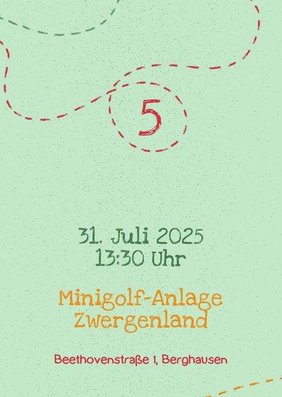 Einladung zum Minigolf Kindergeburtstag mit Foto 2