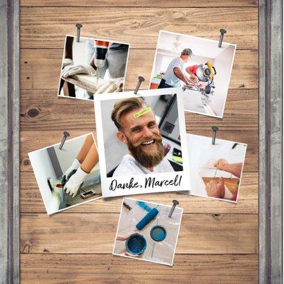 Einladung zum Mitarbeiterjubiläum Foto auf Holz 2