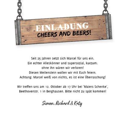 Einladung zum Mitarbeiterjubiläum Foto auf Holz 3