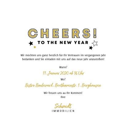 Einladung zum Neujahrsempfang Cheers Sektgläser 3