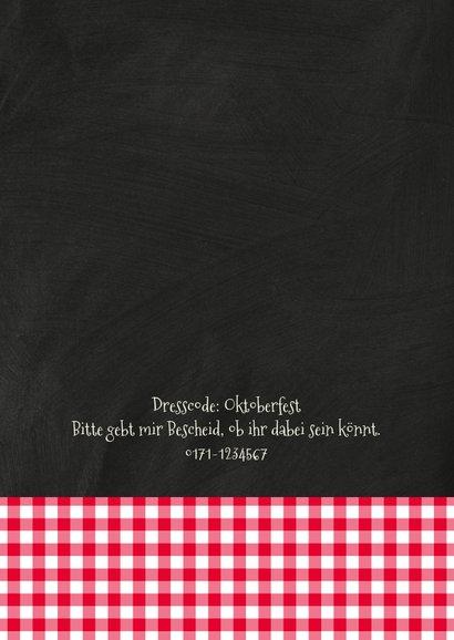Einladung zum Oktoberfest Alpenhütte 2