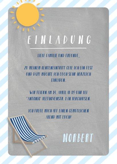 Einladung zum Rentenbeginn Dauerurlaub 3