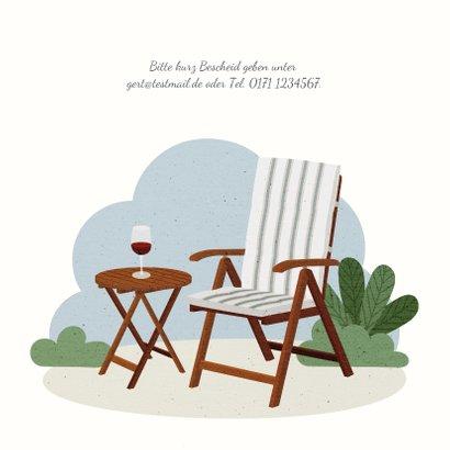 Einladung zum Renteneintritt Gartenstuhl 2