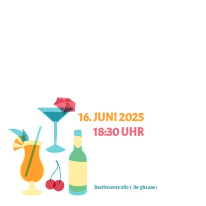 """Einladung zum Sommer-Geburtstag """"Let's Party"""" 2"""