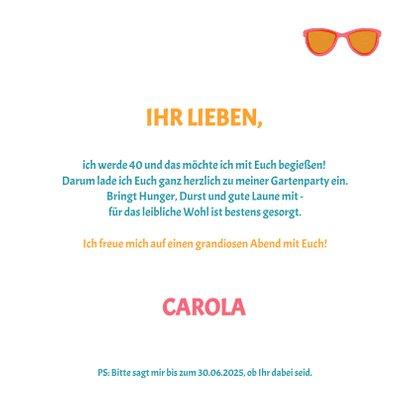 """Einladung zum Sommer-Geburtstag """"Let's Party"""" 3"""