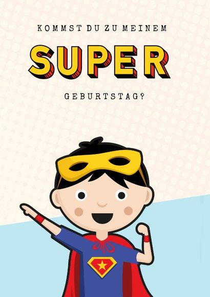 Einladung zum Superhelden-Geburtstag Junge 2