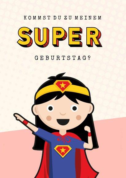 Einladung zum Superhelden-Geburtstag Mädchen 2