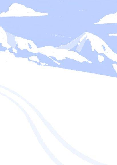 Einladung zur Après-Ski Party mit Bergen Rückseite
