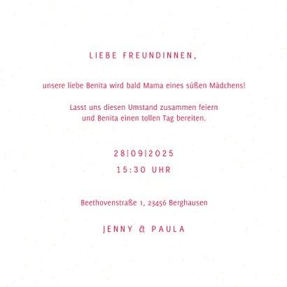 """Einladung zur Baby-Shower """"Ballons"""" - Rosa 3"""