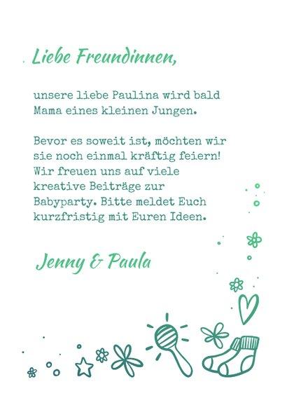"""Einladung zur Babyparty """"Hallo Baby"""" - Junge 3"""