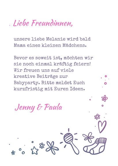 """Einladung zur Babyparty """"Hallo Baby"""" - Mädchen 3"""