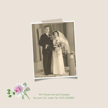 Einladung zur diamantenen Hochzeit Rosenstrauß 2