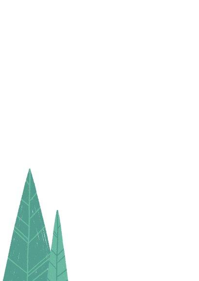 Einladung zur Einweihungsfeier mit Hütte im Wald Rückseite