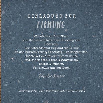 Einladung zur Firmung Foto auf Holz mit Lichterkette 3