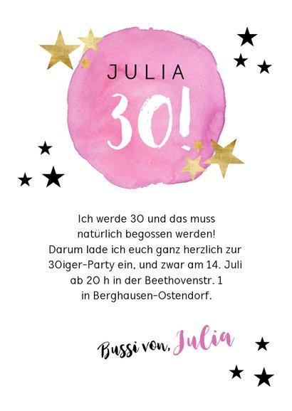 Einladung zur Geburtstagsparty Party Stars rosa 3