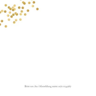 Einladung zur goldenen Hochzeit Foto klassisch 2