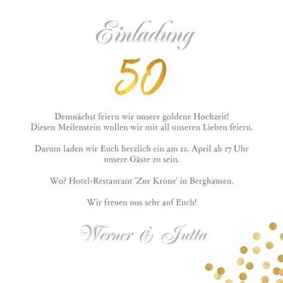 Einladung zur goldenen Hochzeit Foto klassisch 3