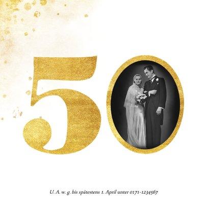 Einladung zur goldenen Hochzeit goldene 50 2