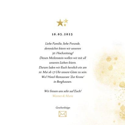 Einladung zur goldenen Hochzeit goldene 50 3