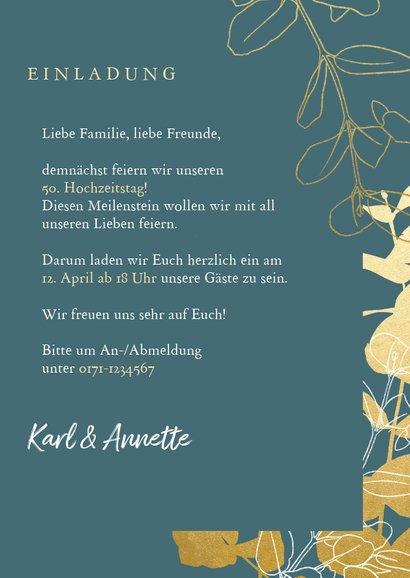 Einladung zur goldenen Hochzeit Goldzweige Foto 3