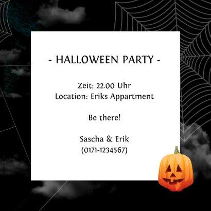 Einladung zur Halloweenparty Black sky 3