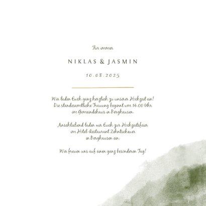 Einladung zur Hochzeit Aquarell & Zweige mit Foto 3