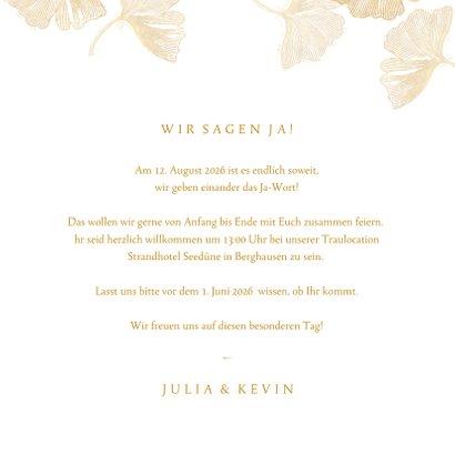 Einladung zur Hochzeit Ginkgoblätter Stempel 3